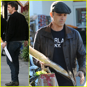 Olivier Martinez Picks Up His Daily Baguette After Signing with New Talent Agency