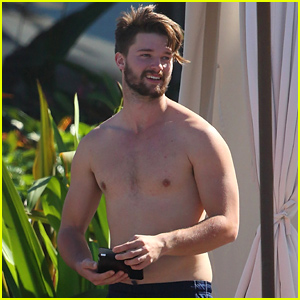 Patrick Schwarzenegger Goes Shirtless After Untrue Rumors Surface About Him & Miley Cyrus
