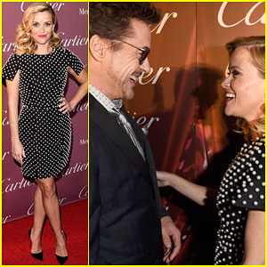 Reese Witherspoon & Robert Downey Jr. Look Delighted to See Each Other at Palm Springs Fest