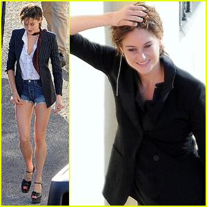 Shailene Woodley leans...