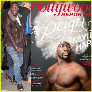 Shirtless Kevin Hart Wears Huge White Wig on 'Hollywood Reporter' Cover