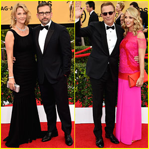 Steve Carell Gets Support from His Wife at SAG Awards 2015