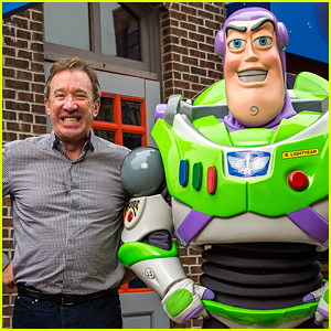 Toy Story's Tim Allen Meets Buzz Lightyear at Disney World