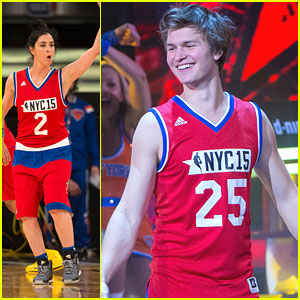 Ansel Elgort & Sarah Silverman Play The NBA All-Star Celeb Basketball Game - See The Pics!