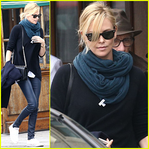Charlize Theron Picks Up Some Toys for Son Jackson in Paris