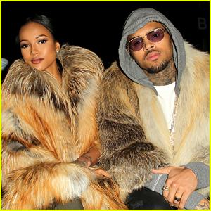 Chris Brown & Girlfriend Karrueche Tran Wear Fur for NYFW