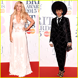 Ellie Goulding & Janelle Monae Are Red Carpet Ready at BRIT Awards 2015