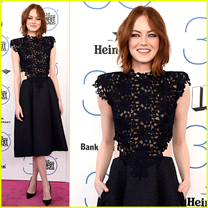 Emma Stone's Black Dress is Perfect For Spirit Awards 2015