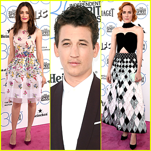 Emmy Rossum & Jena Malone Turn Heads at Spirit Awards 2015