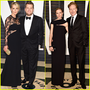 James Corden & Conan O'Brien Bring Their Spouses to Vanity Fair's Oscar After Party 2015!