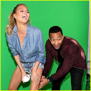 John Legend Has Super Bowl Fun with Wife Chrissy Teigen