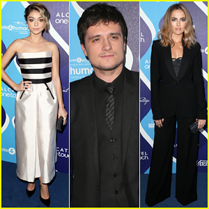Josh Hutcherson Receives Young Humanitarian Award at Unite 4 Humanity Gala 2015!