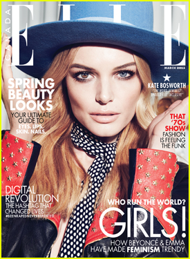 Kate Bosworth Talks Feminism & Being a Step-Mom in 'Elle Canada' March 2015 Issue