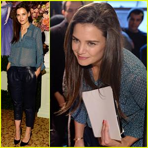 Katie Holmes Kicks Off New York Fashion Week by Judging Fashion Students!