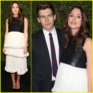 Keira Knightley Baby Bumps Along to Pre-Oscars 2015 Bash