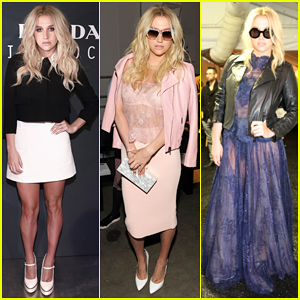 Kesha Steps Up Her Style For New York Fashion Week Shows