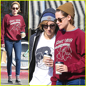 Kristen Stewart Spends Time With Alicia Cargile Before London Flight