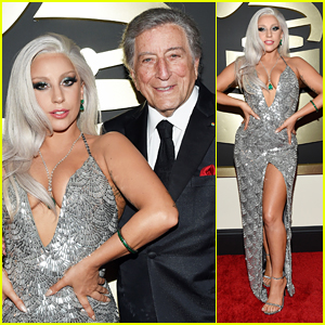 Lady Gaga Walks Grammys 2015 Carpet with Tony Bennett!
