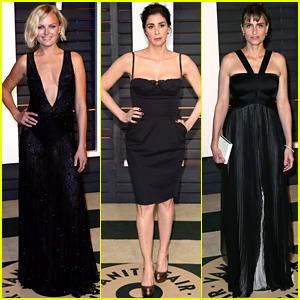 Malin Akerman & Sarah Silverman Go Chic in Black at Vanity Fair's Oscars 2015 Party!