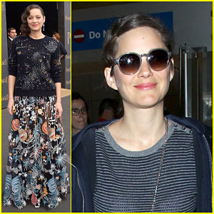 Marion Cotillard Heads to the Spirit Awards Right After Landing in L.A.