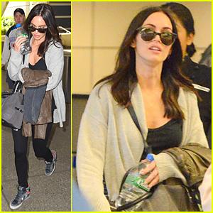 Megan Fox Jets Back to Los Angeles Following Short 'Teenage Mutant Ninja Turtles' Promo Tour in Japan
