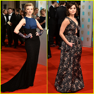 Natalie Dormer Works It with Lace Gloves at BAFTAs 2015