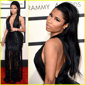 Nicki Minaj Totally Works the Grammys 2015 Red Carpet