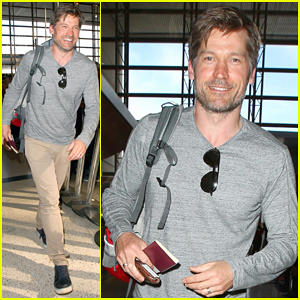 Nikolaj Coster-Waldau Happily Returns Home to Denmark - Watch Him Speak In His Native Language!