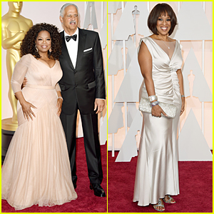Oprah Winfrey & BFF Gayle King Wear Similar Colors at Oscars 2015