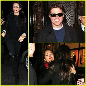 Penelope Cruz, Tom Cruise, & Salma Hayek Enjoy a Night Out