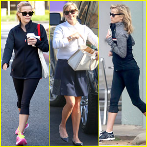 Reese Witherspoon Dons Four Different Outfits in Two Days