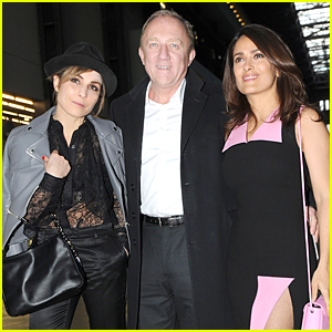 Salma Hayek & Noomi Rapace Catch Up at Christopher Kane Fashion Show!