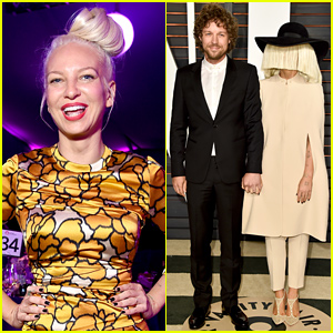 Sia Shows Her Face at Elton John's Oscars 2015 Party!