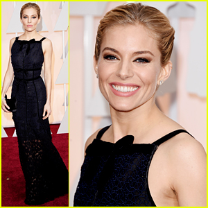 Sienna Miller Represents 'American Sniper' at Oscars 2015