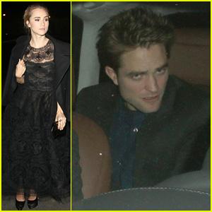 Suki Waterhouse & Robert Pattinson Party Before Oscars 2015