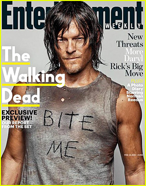 Walking Dead's Norman Reedus Says 'Bite Me' on 'EW' Cover