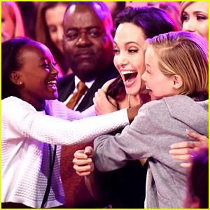 Angelina Jolie's Kids Have Best Reaction to KCAs Win! (Video)