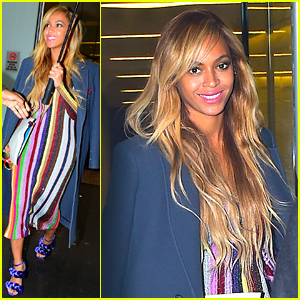 Beyonce Keeps Very Colorful in New York City