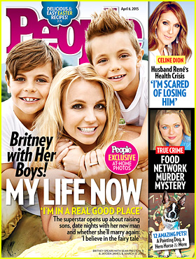 Britney Spears Poses With Sean Preston & Jayden for 'People'