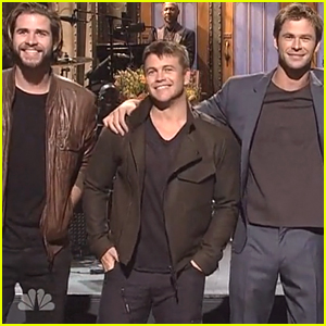 Chris Hemsworth's Brothers Join Him for 'SNL' Monologue (Video)