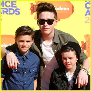 David & Victoria Beckham's Three Boys Walk the KCAs Carpet!