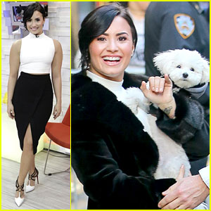 Demi Lovato & Adorable Pup Buddy Promote 'Devonne By Demi' in NYC