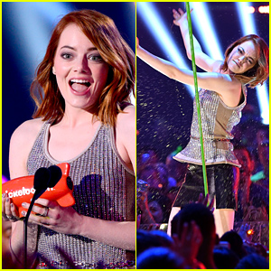 Emma Stone WINS Favorite Movie Actress at Kids' Choice Awards 2015!