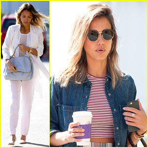 Jessica Alba Shows Off Her Business Style Before a Big Meeting