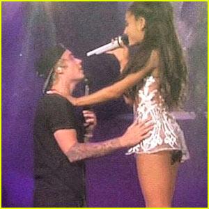 Justin Bieber Surprises Ariana Grande's Concert Crowd! (Video)