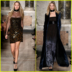 Gigi Hadid & Karlie Kloss Walk Emilio Pucci & Dolce and Gabbana Shows Together In Milan