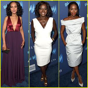 Kerry Washinton & Viola Davis Are Leading Ladies at GLAAD Awards 2015