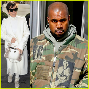 Kris Jenner & Kanye West Jet Off From London to Paris