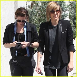 Kristen Stewart & Alicia Cargile Rock Black in Sunny L.A.