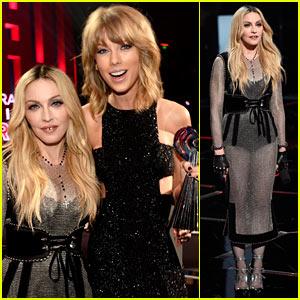 Madonna Presents Award to Taylor Swift at iHeartRadio 2015!